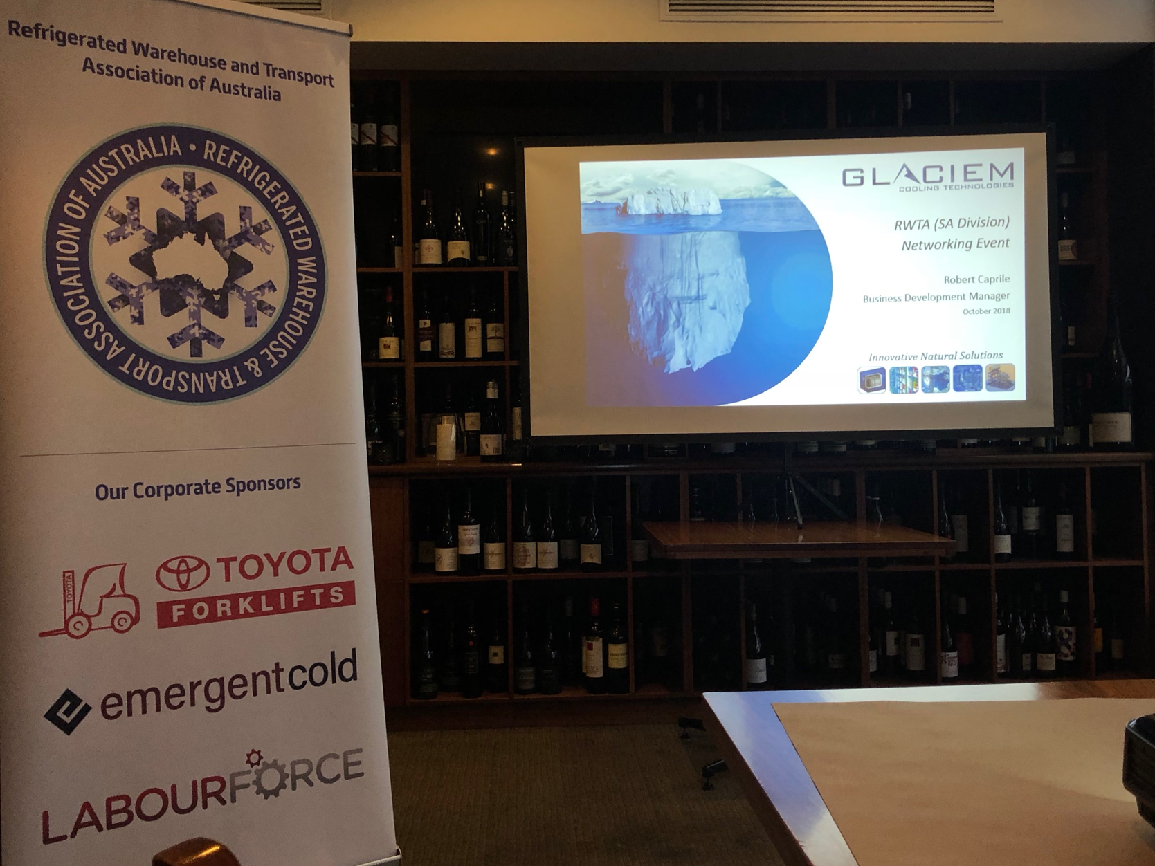October RWTA Networking Breakfast, with Glaciem Cooling